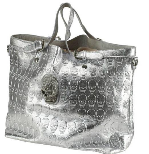 tasche von melrose silber handtasche damen totenkopf. Black Bedroom Furniture Sets. Home Design Ideas