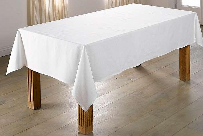 tischdecke tischw sche 150 x 350 creme baumwolle von heine neu ebay. Black Bedroom Furniture Sets. Home Design Ideas