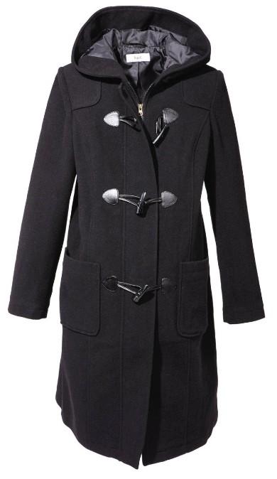 wolle umstands mode dufflecoat gr 44 schwarz damen mantel. Black Bedroom Furniture Sets. Home Design Ideas